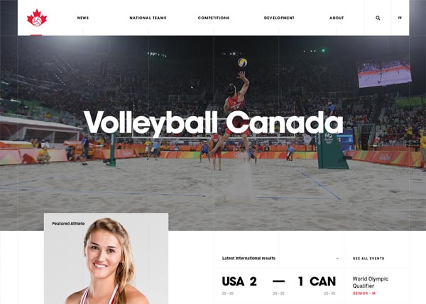 Volleyball Canada by Locomotive