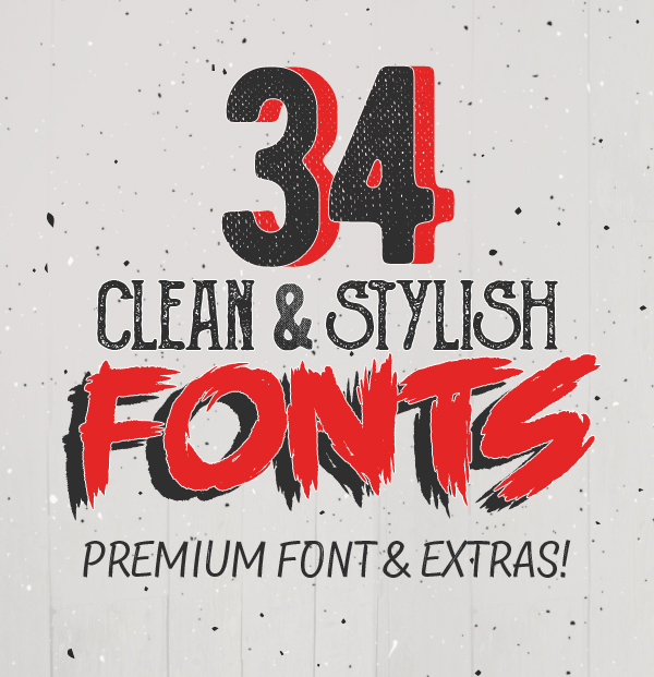 34 Clean & Stylish Fonts for Designers