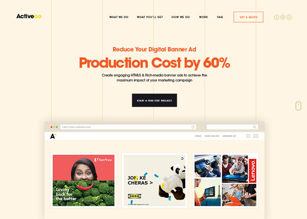DIGITAL BANNER AD PRODUCTION by Activeoo