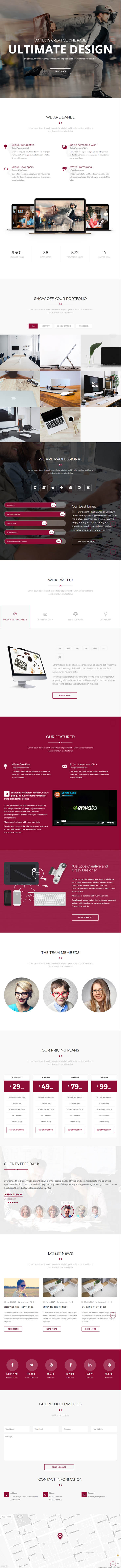 DANEE : Onepage WordPress Theme