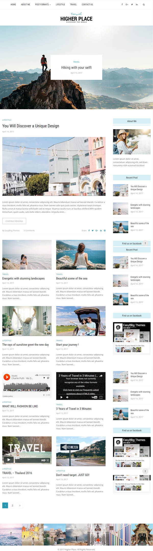 Higher Place - Multi-Purpose Blog & Magazine WordPress Theme