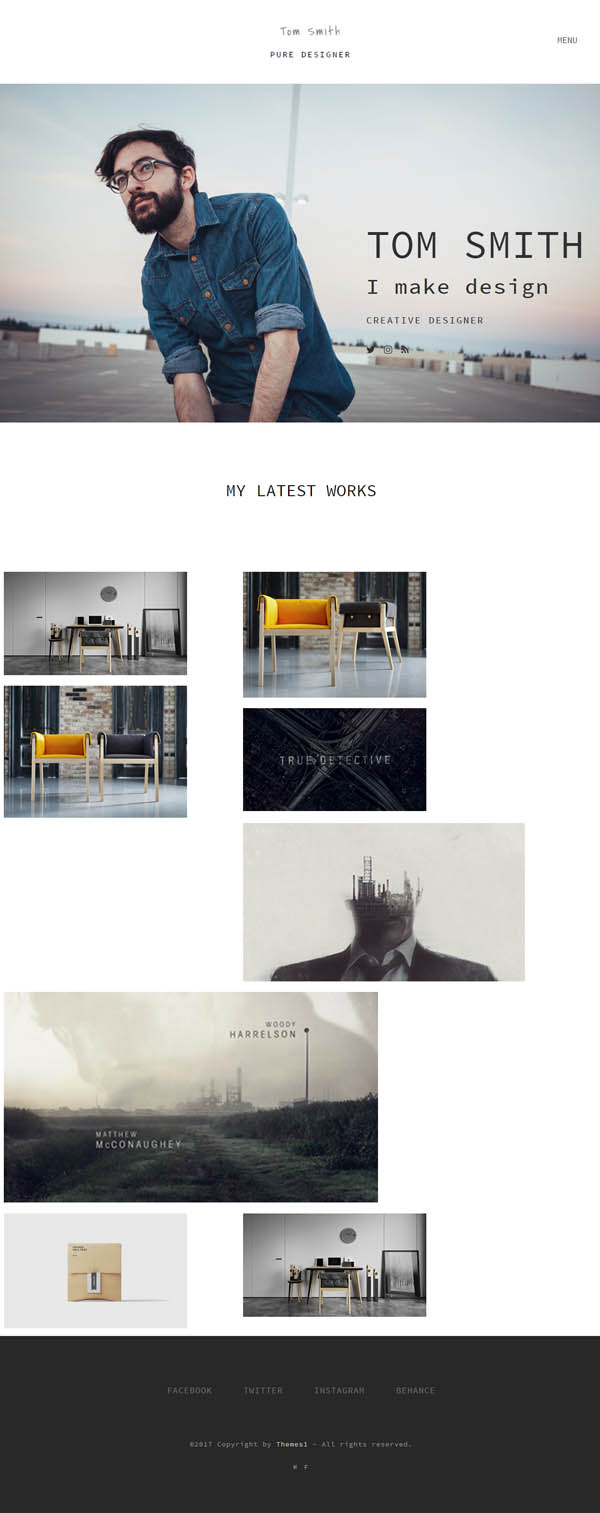 Pure - Minimal Portfolio WordPress Theme