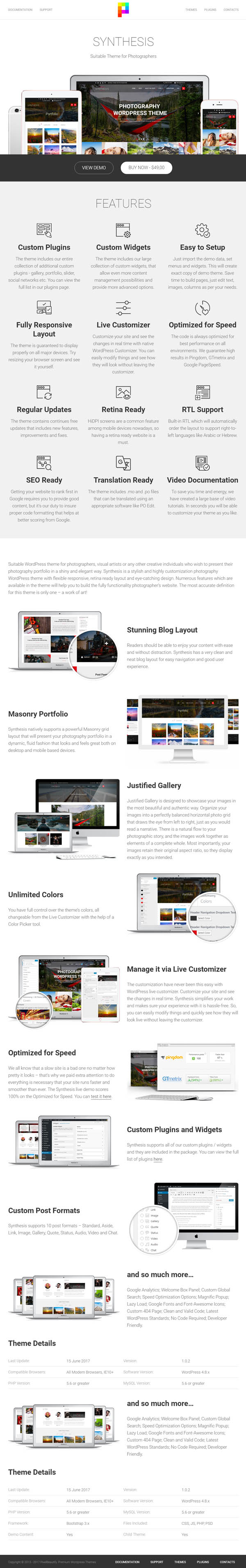 Synthesis - Suitable Theme for Photographers (Photography)