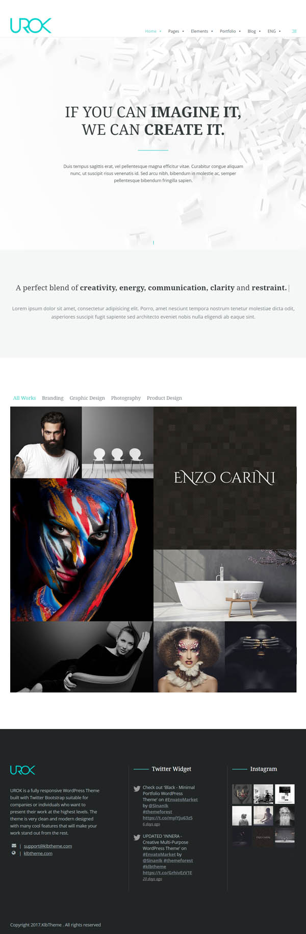 UROK: Responsive Multipurpose WordPress Theme