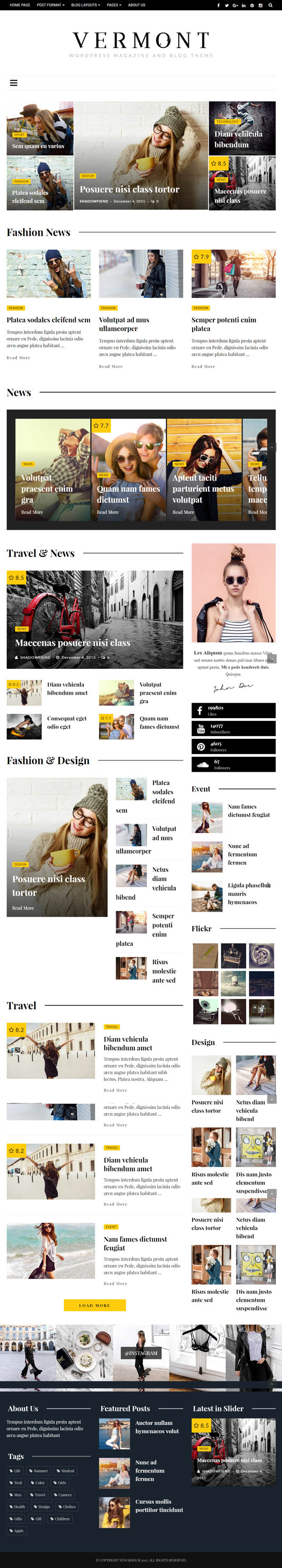 Vermont - WordPress Magazine and Blog Theme