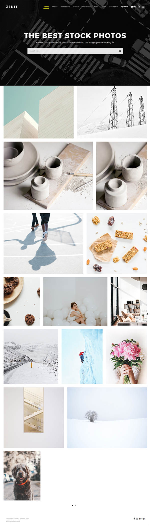 Zenit - A Crisp and Clean Photography Theme