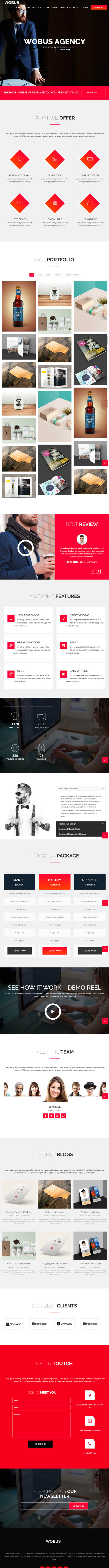 Wobus - Onepage & Multi Pages Business WordPress Theme