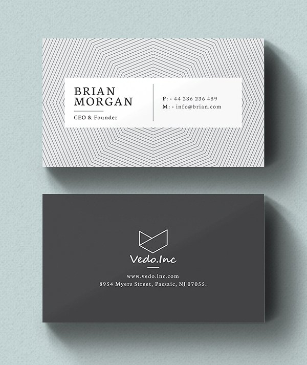 Clean Business Card Template Best for Personal Identity