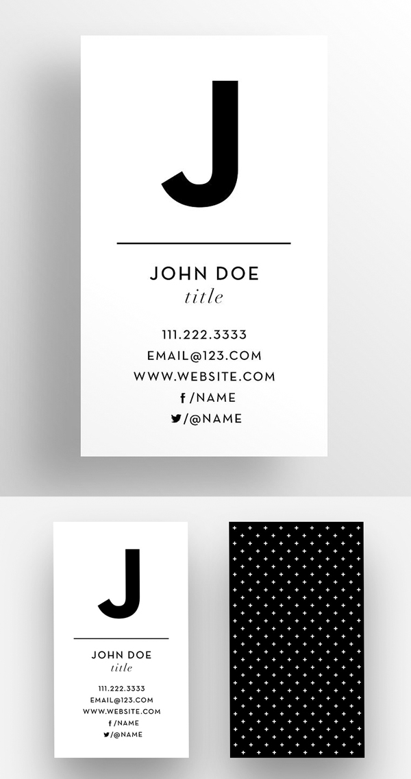 The Initial – Business Card Template