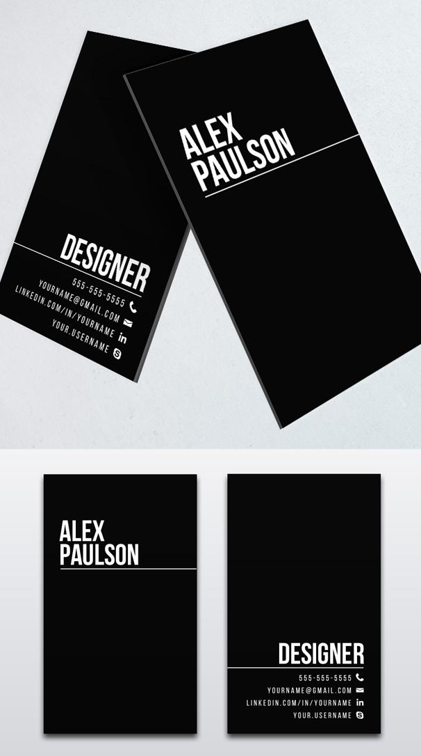 Minimal Black Business Card Design