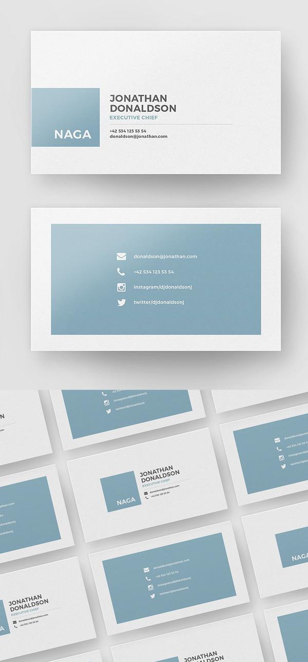 Simple, Minimal Business Card Template
