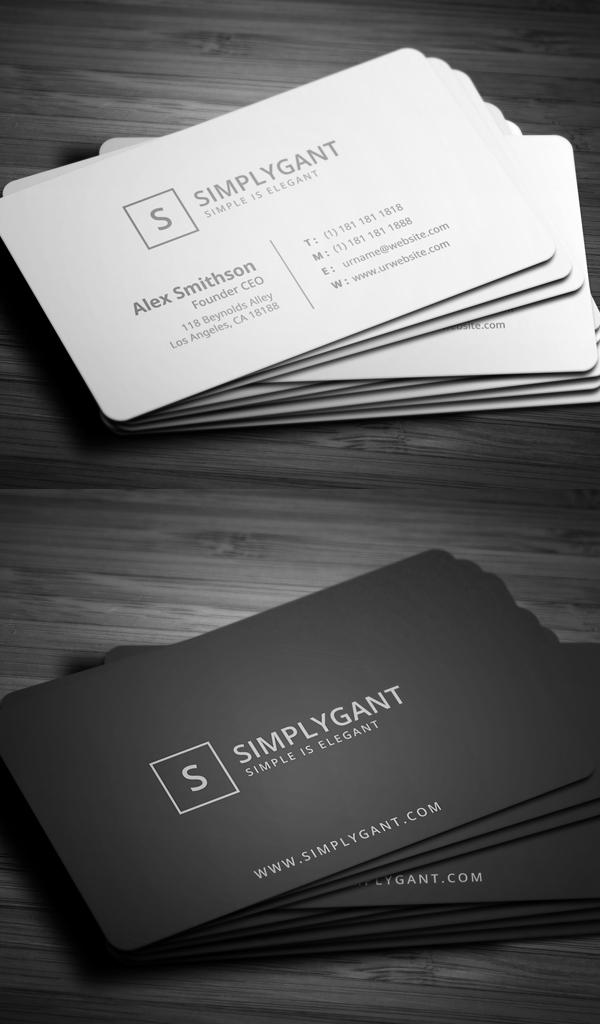 Simple Minimal Business Cards