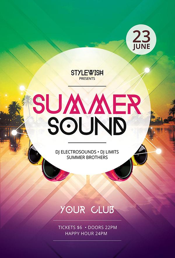 Summer Sound Flyer Template