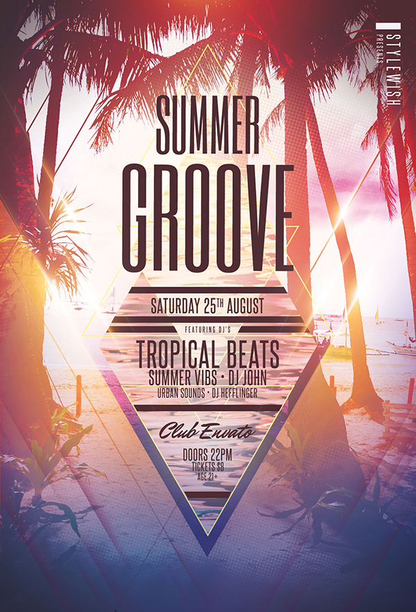 Summer Groove Flyer Template
