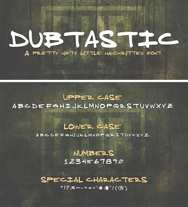 Dubtastic Handwriting Free Font
