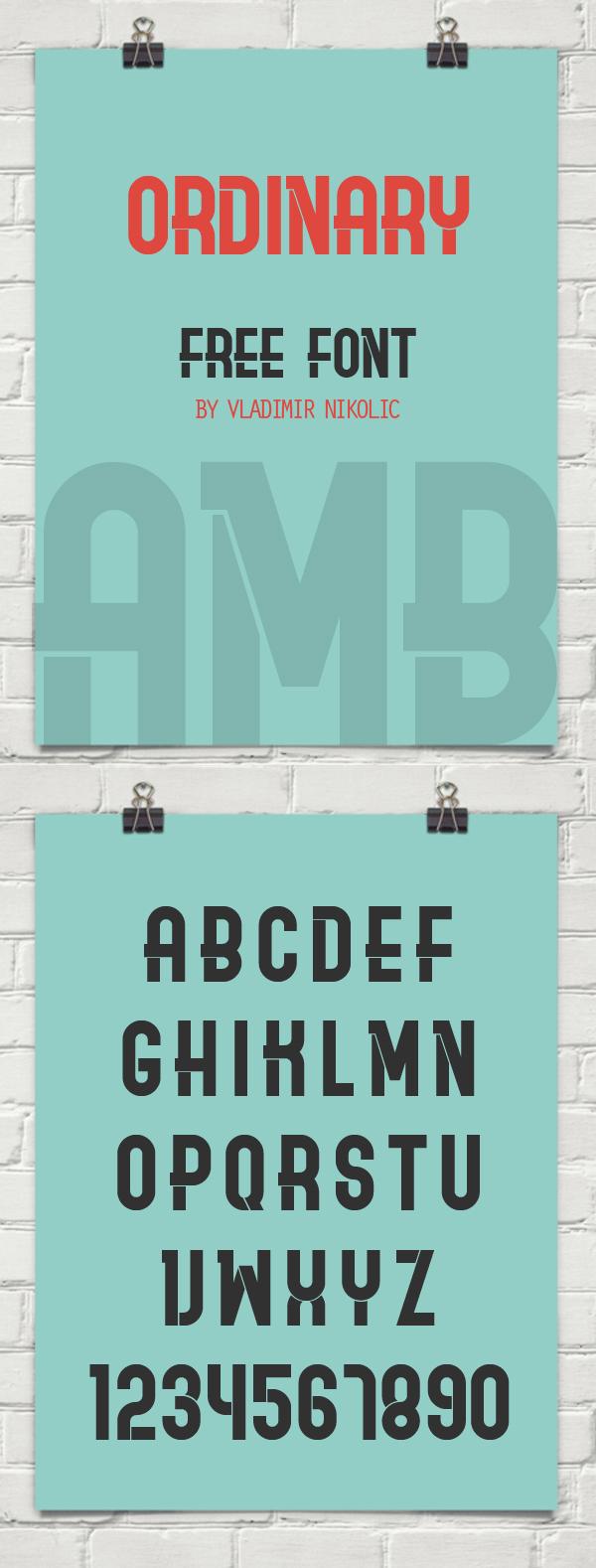 Ordinary Free Font