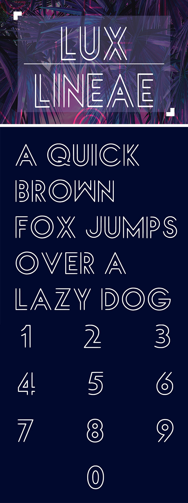 Luxlineae Free Font
