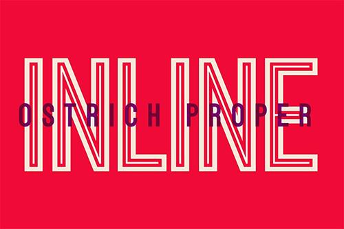 Ostrich Proper Inline Fonts