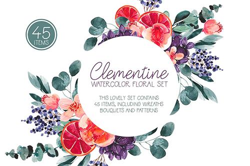 Clementine - Watercolor Set