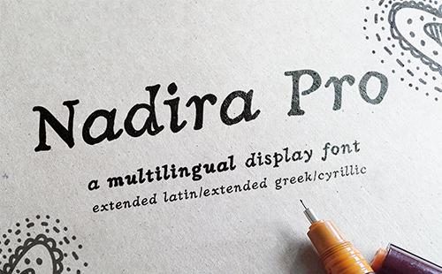 Greek Hand Drawn Serif Font