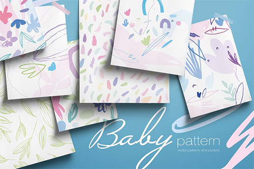 Baby Vector Patterns and Posters