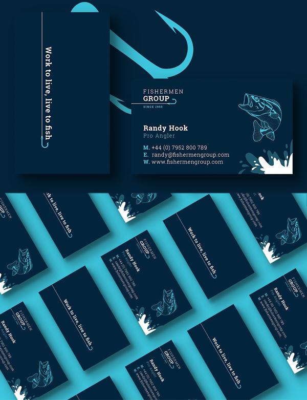 Fishermen Business Card Template