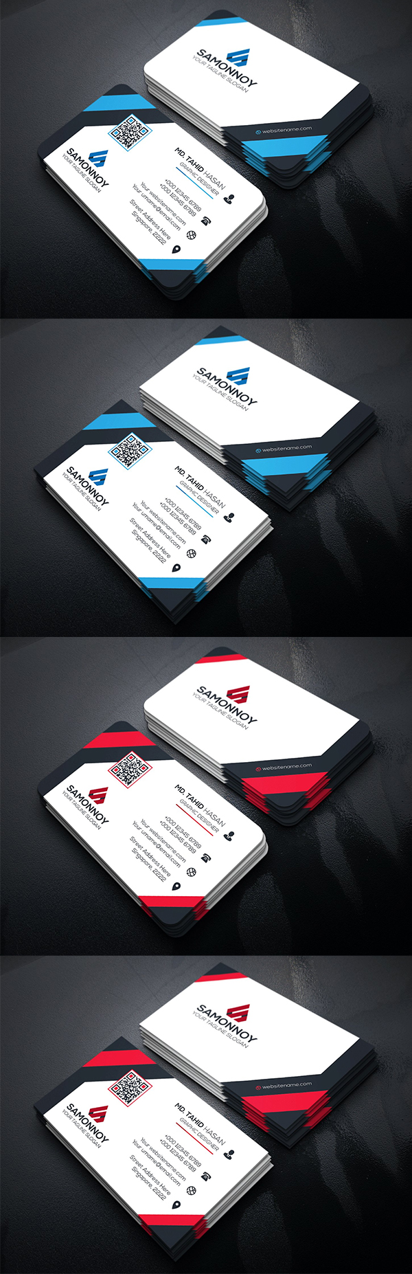 Clean & Simple Business Cards Template