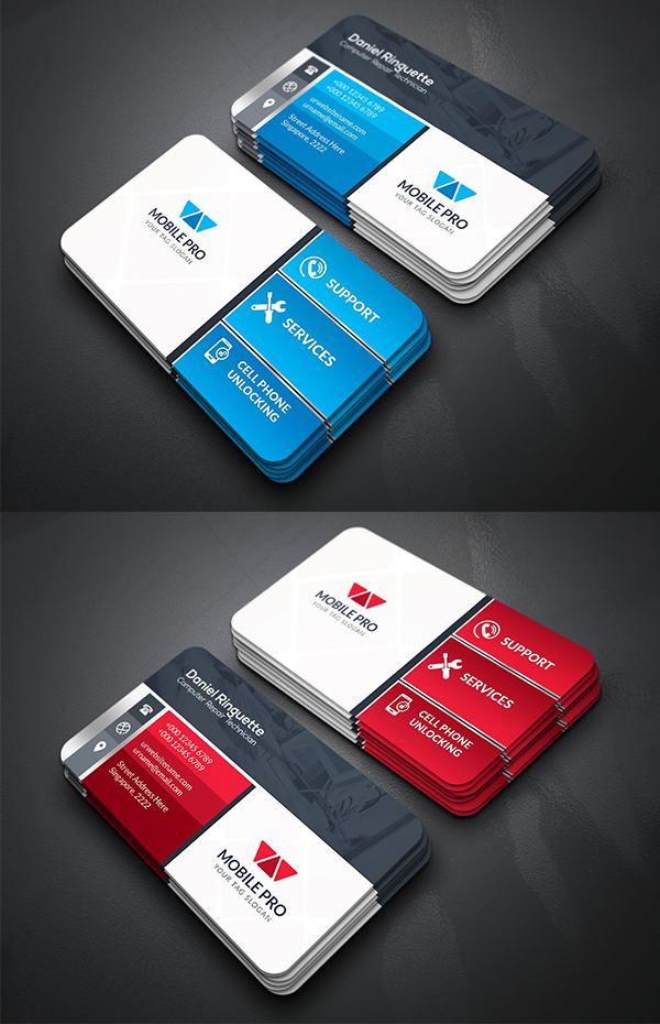 Mobile Repair Business Card Template