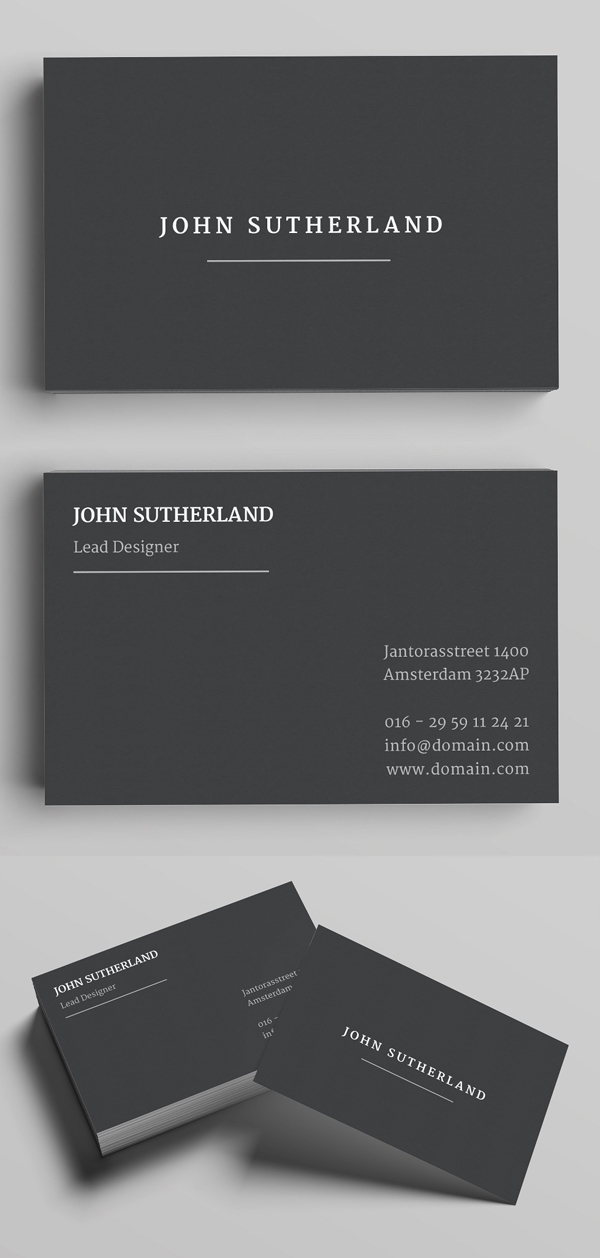 Sutherland Business Card Template