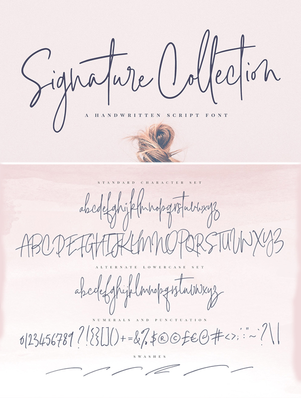 Signature Collection Script Font