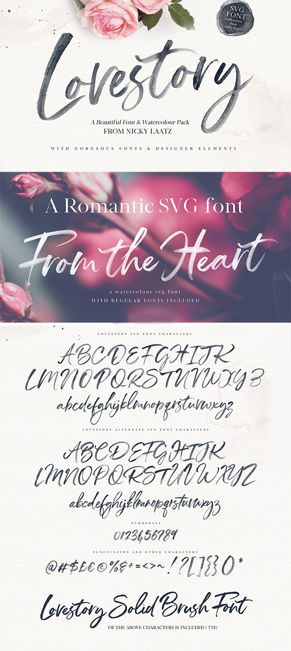 Lovestory Font Collection