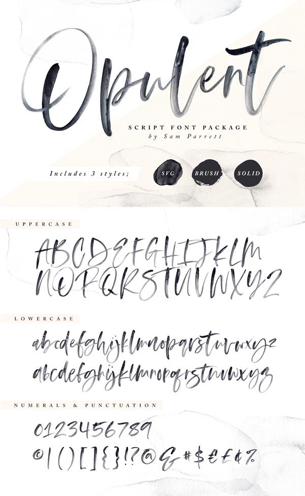 Stylish Opulent Font