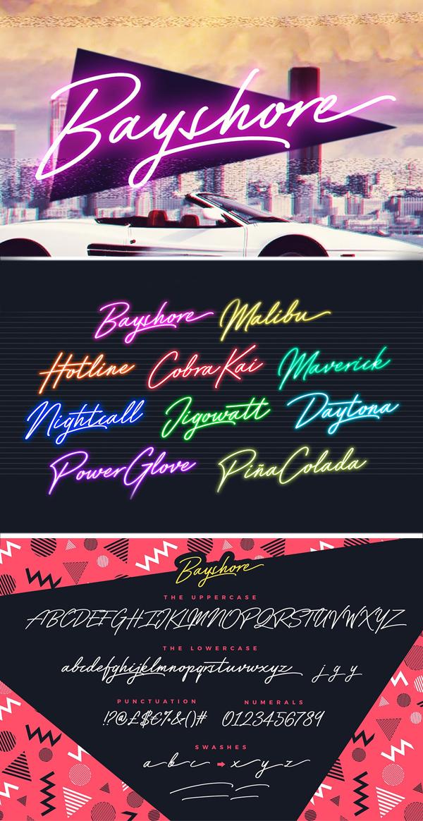 Neon Glow Styles Font
