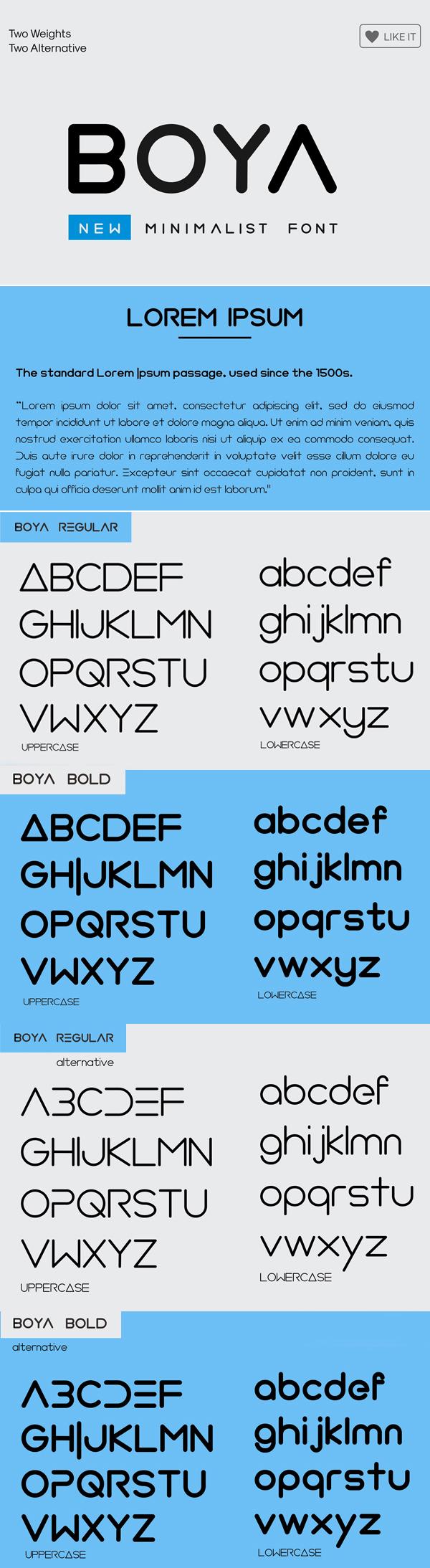 BOYA ( Rounded Font )
