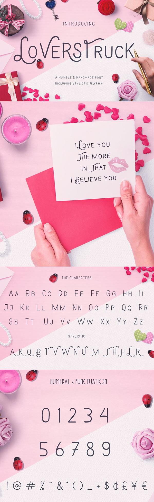 Loverstruck Retro Font