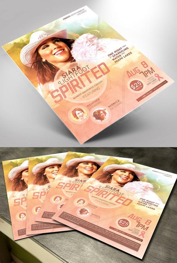 Spirited Benefit Concert Template