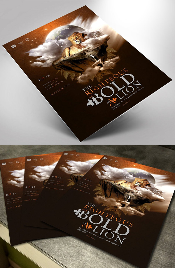Righteous Church Flyer Template