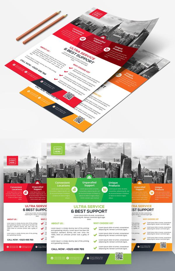 Corporative Flyers Template Design