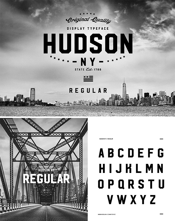 Hudson NY - Regular Font