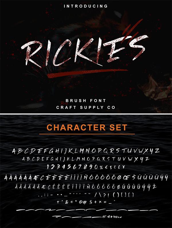 Rickies - Brush Font