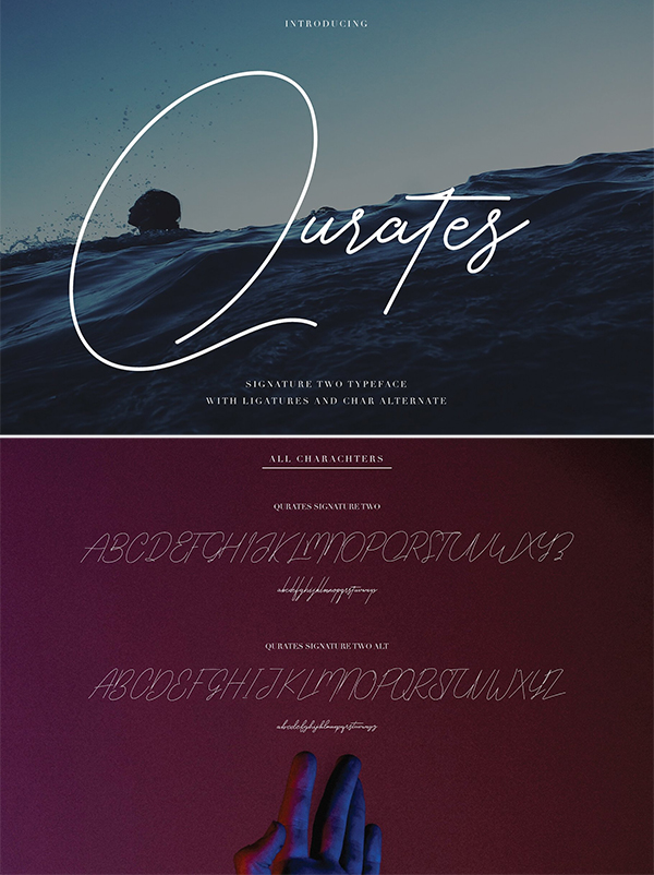 Qurates Signature Style Font