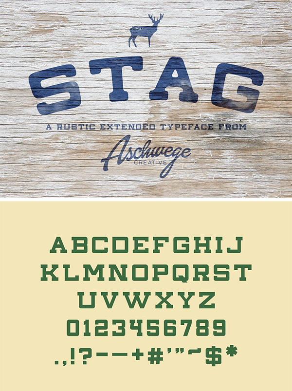Awesome Stag Font