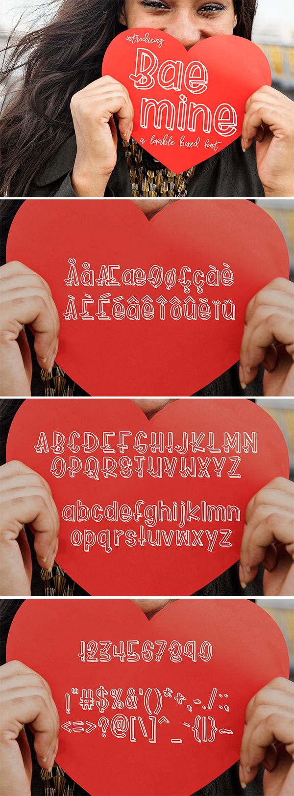 Bae Mine Stylish Font