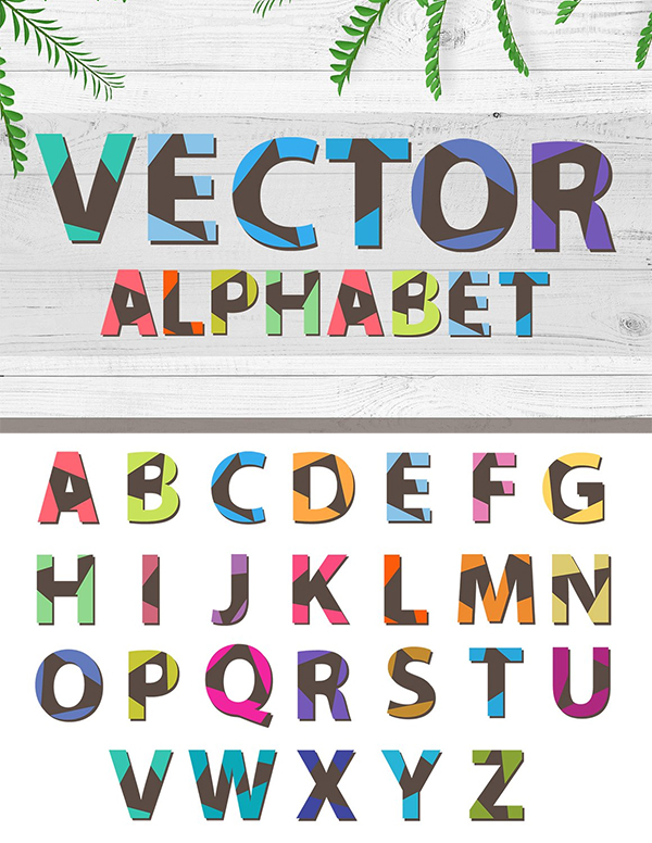 Triangular Vector Font