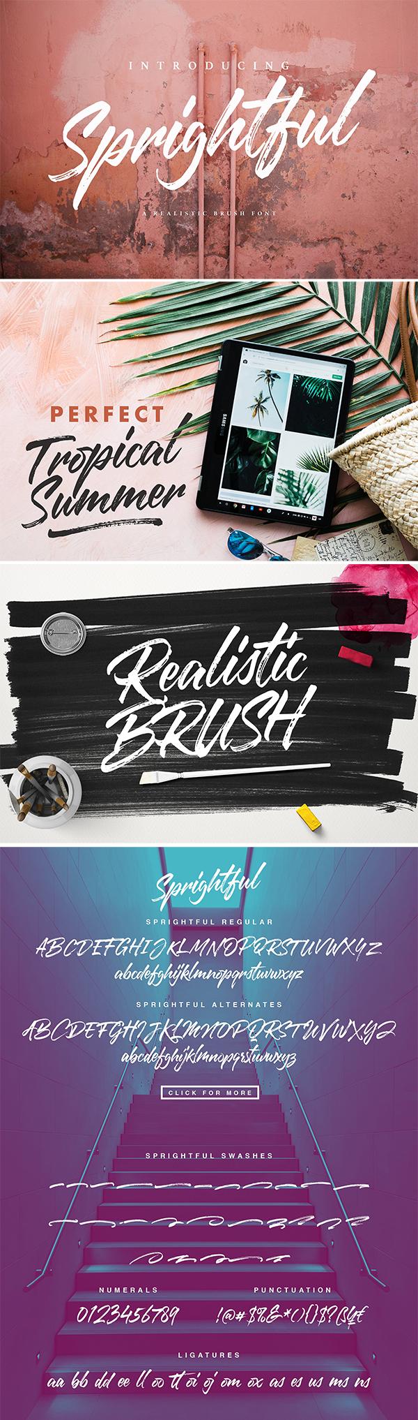 Creative Sprightful Font