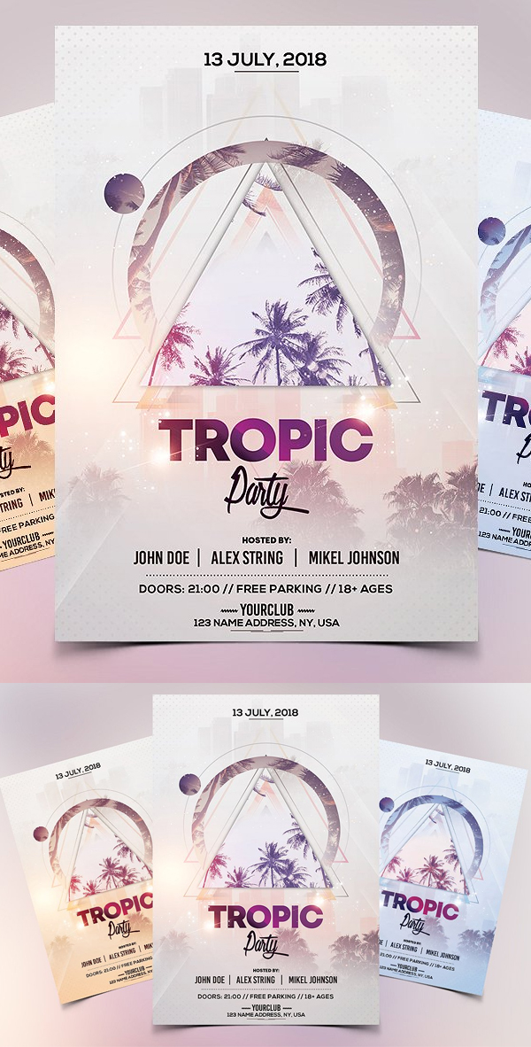 Tropic Party - PSD Flyer Template
