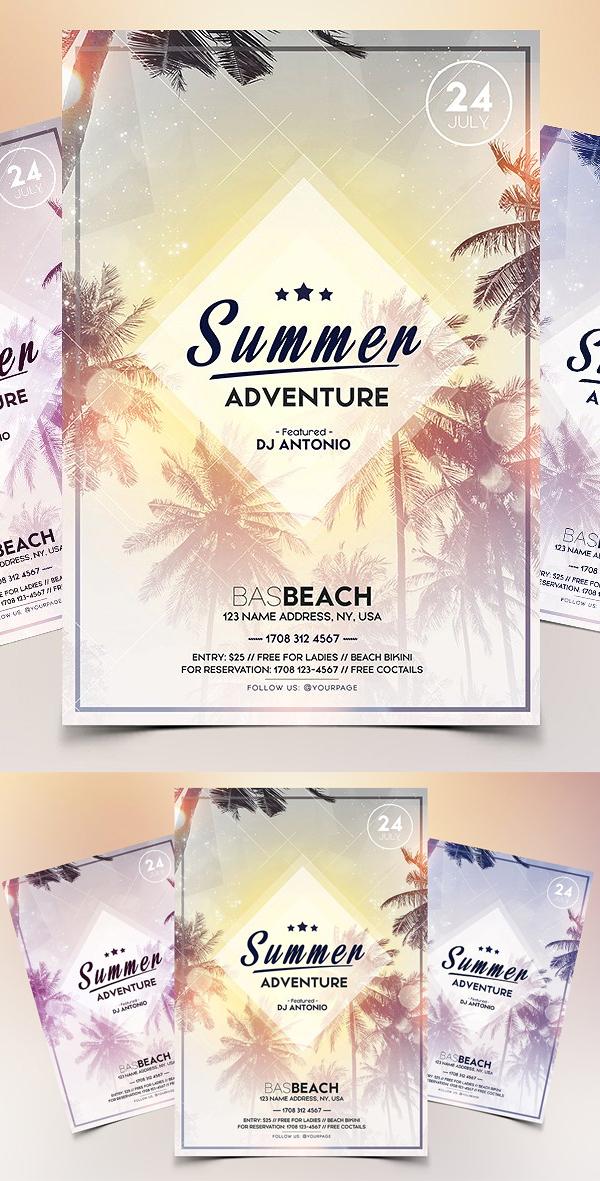 Summer Adventure - PSD Flyer
