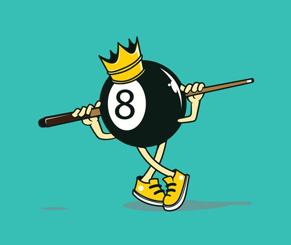 KING 8 BALL Logo Design