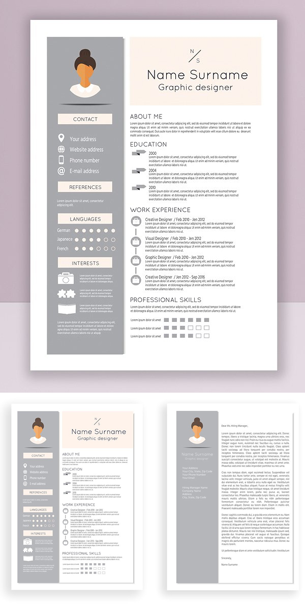 Creative resume and cover letter