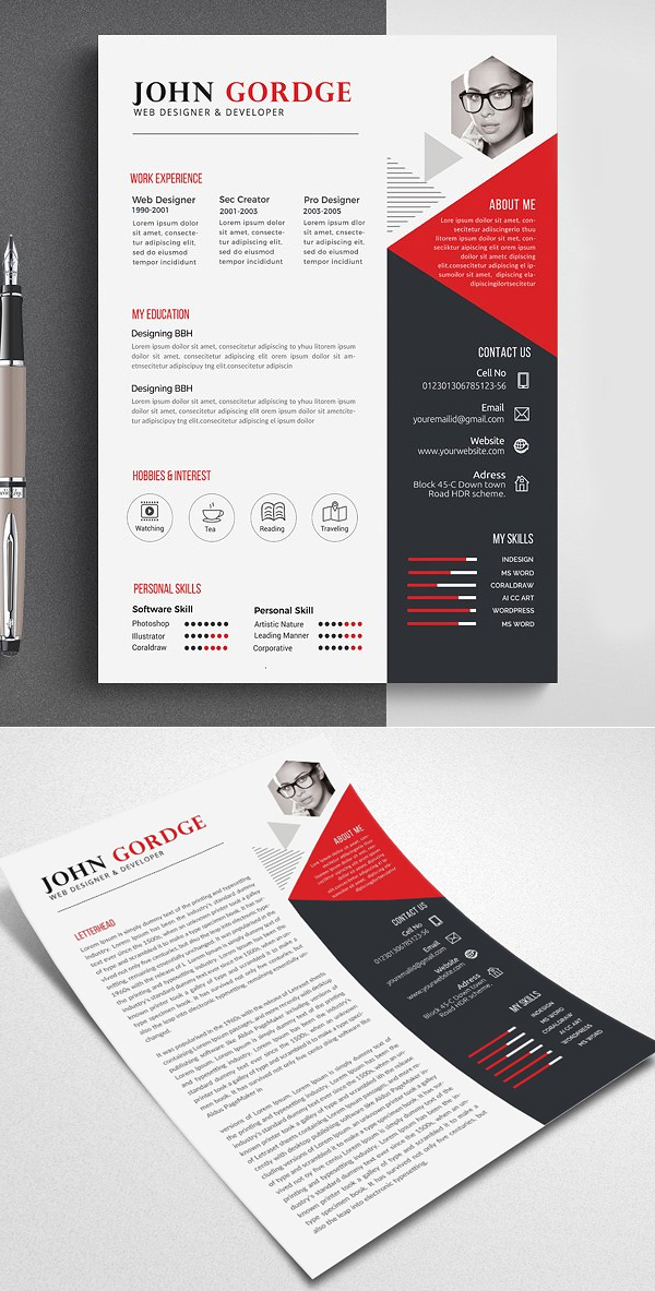 Professional and Clean Resume / CV Template